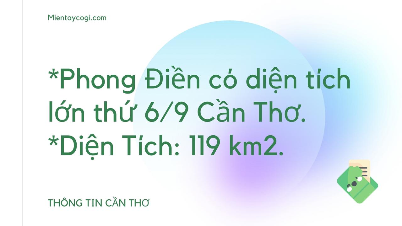 Thông tin về huyện Phong Điền Cần Thơ