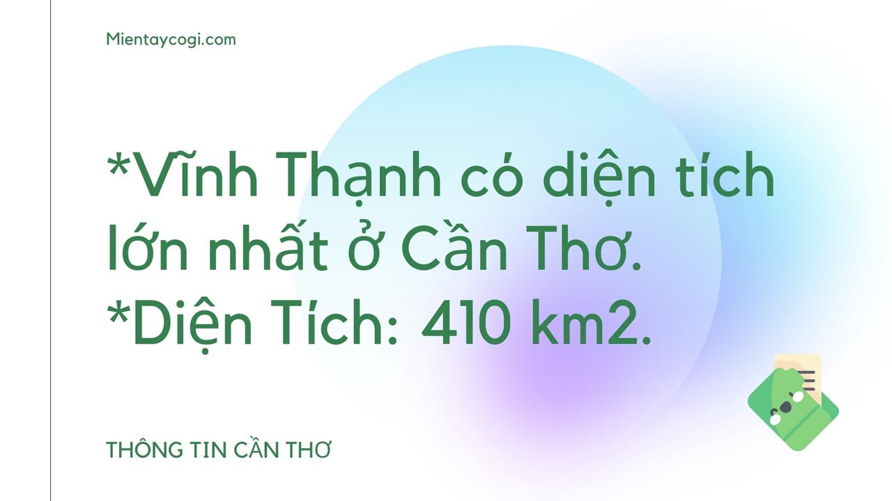 Thông tin về huyện Vĩnh Thạnh Cần Thơ