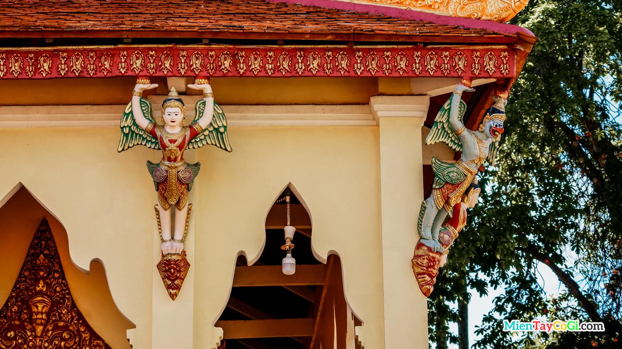 Tiên nữ Kennar trong kiến trúc chùa Ponthiramson Cần Thơ