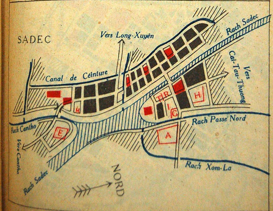 Bản đồ Sa Đéc năm 1930