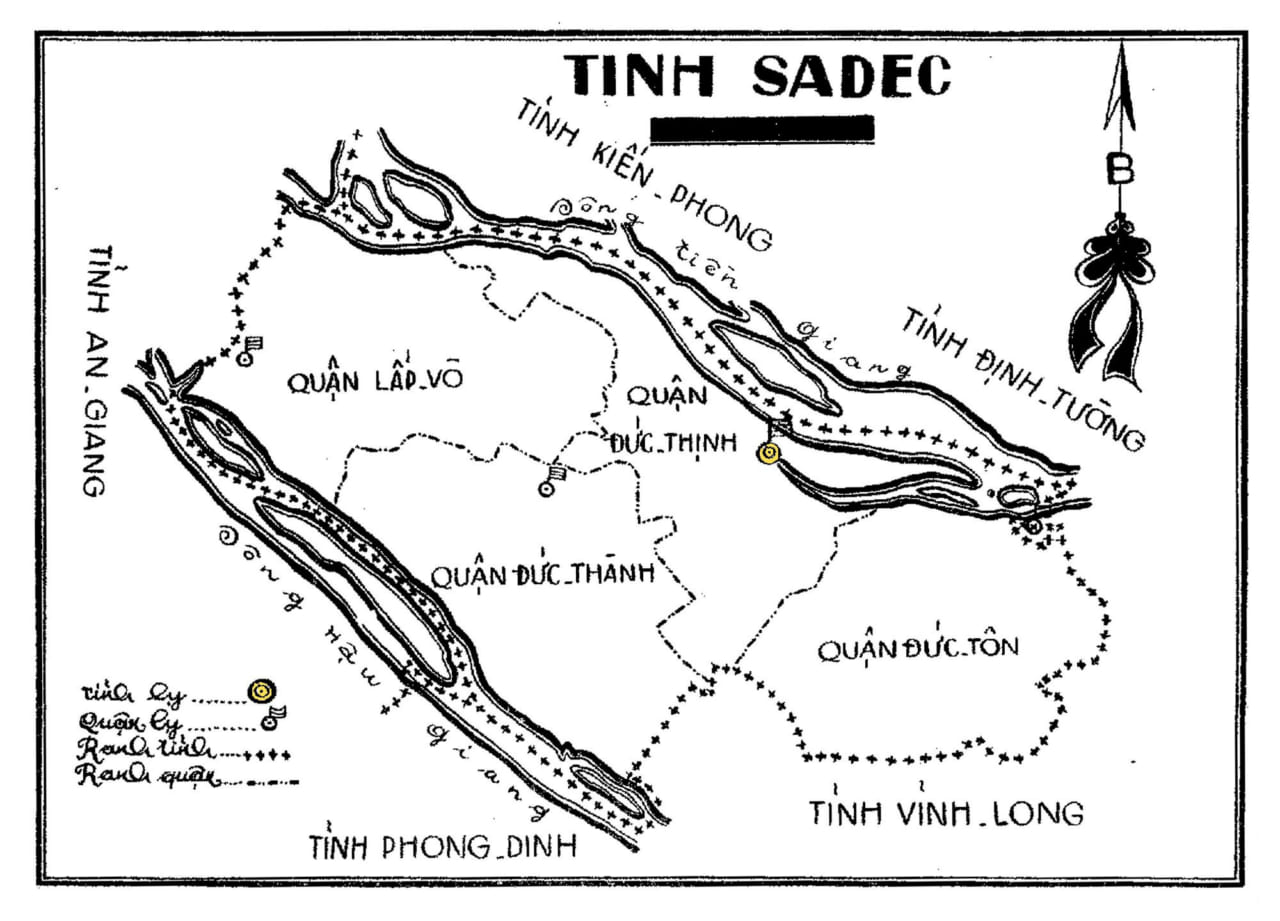Bản đồ Sa Đéc năm 1974