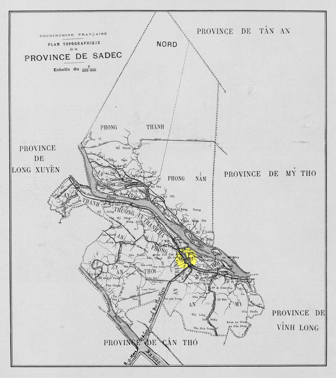 Bản đồ tỉnh Sa Đéc năm 1912