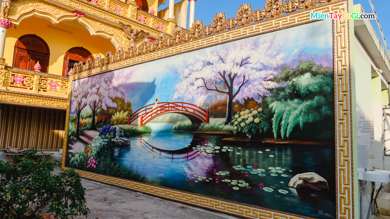 Bức tranh được vẽ lên tường