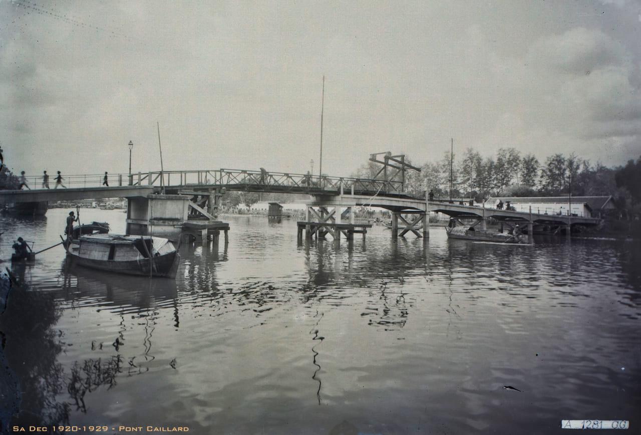 Cầu quay Pont Caillard ở Sa Đéc 1920s
