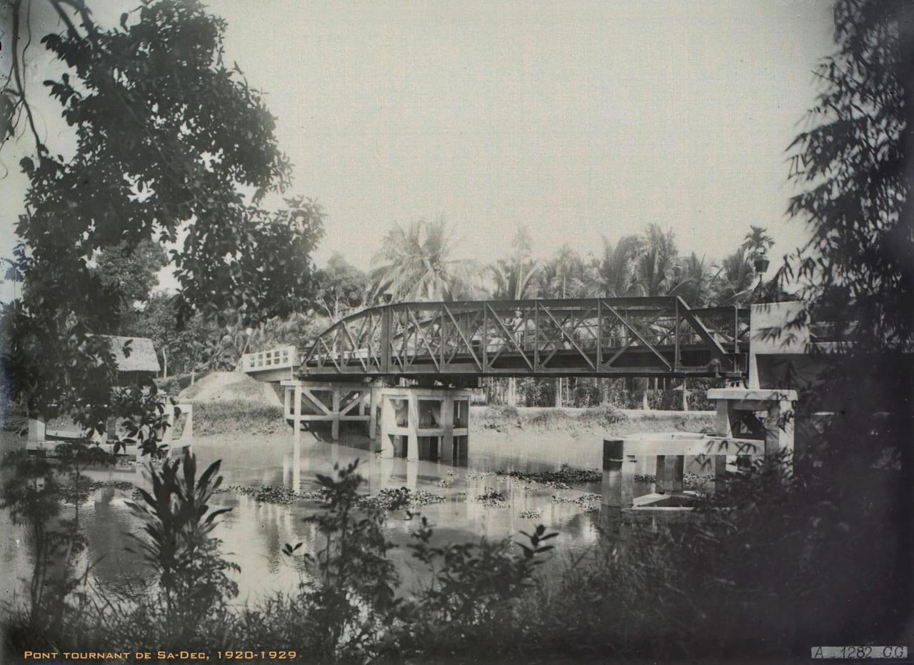 Cầu quay Sa Đéc 1920s