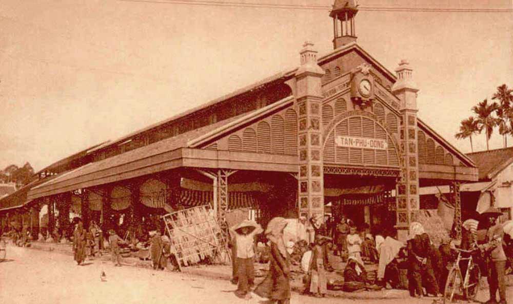 Chợ Tân Phú Đông năm 1926 - Hình ảnh Đồng Tháp xưa