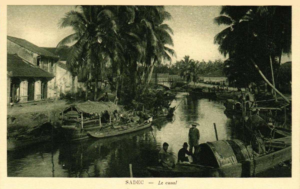 Con kênh đào ở Sa Đéc - Ảnh Đồng Tháp ngày xưa