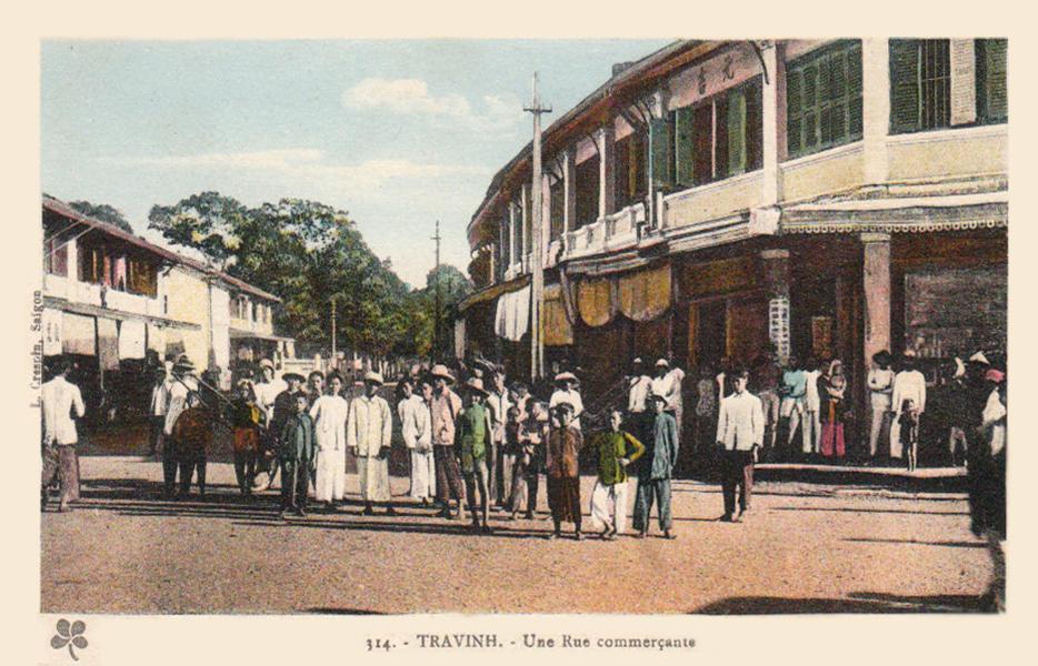 Khu chợ ở Trà Vinh năm 1925