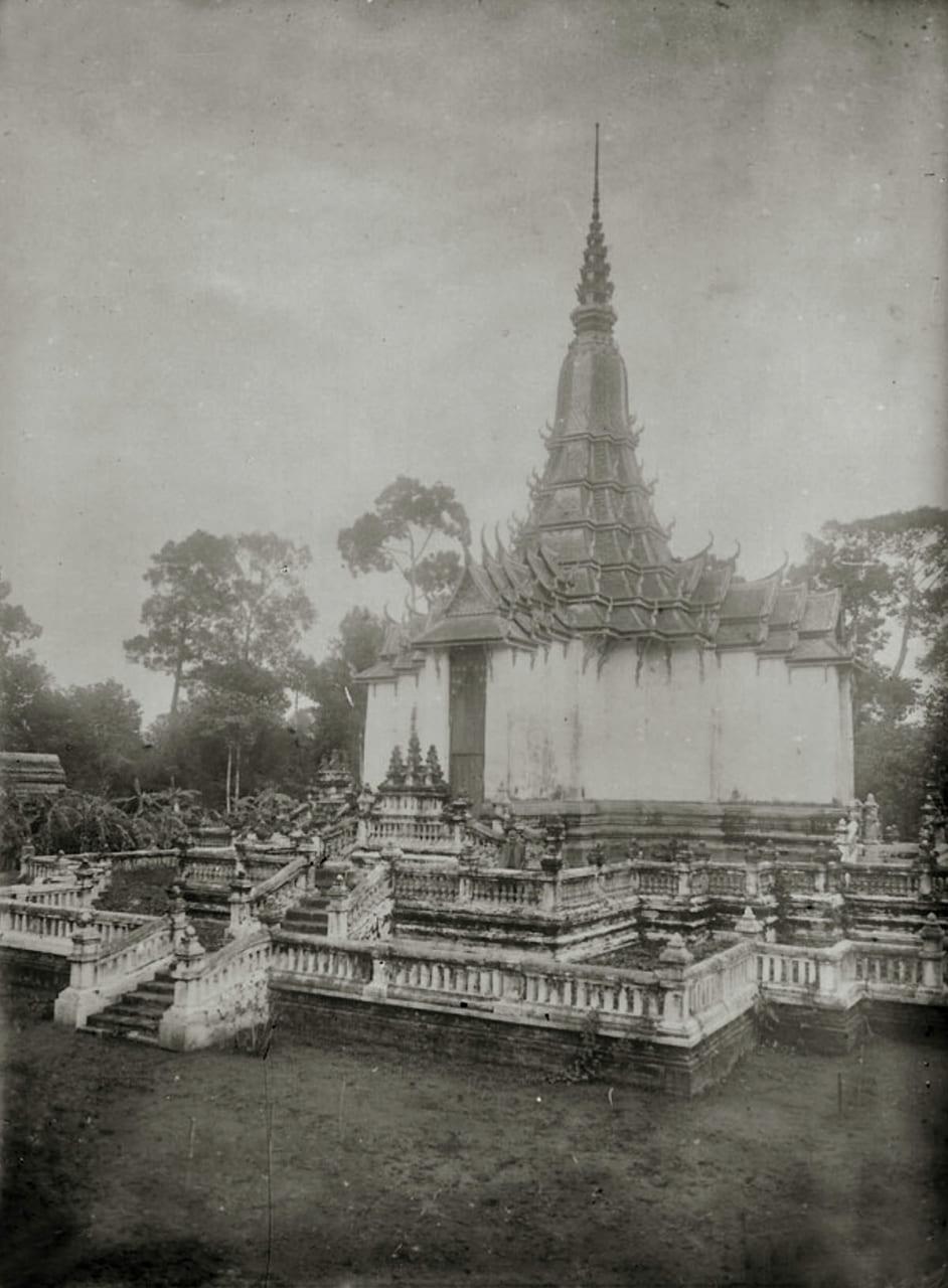 Kiến trúc một ngôi chùa Khmer ở Trà Vinh xưa