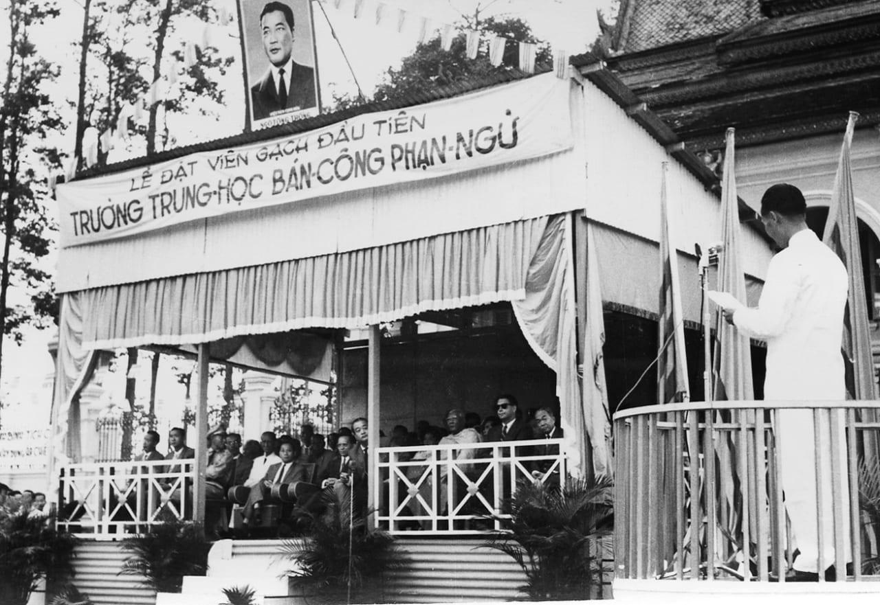 Lễ khởi công trường trung học Bán Công ở Trà Vinh xưa