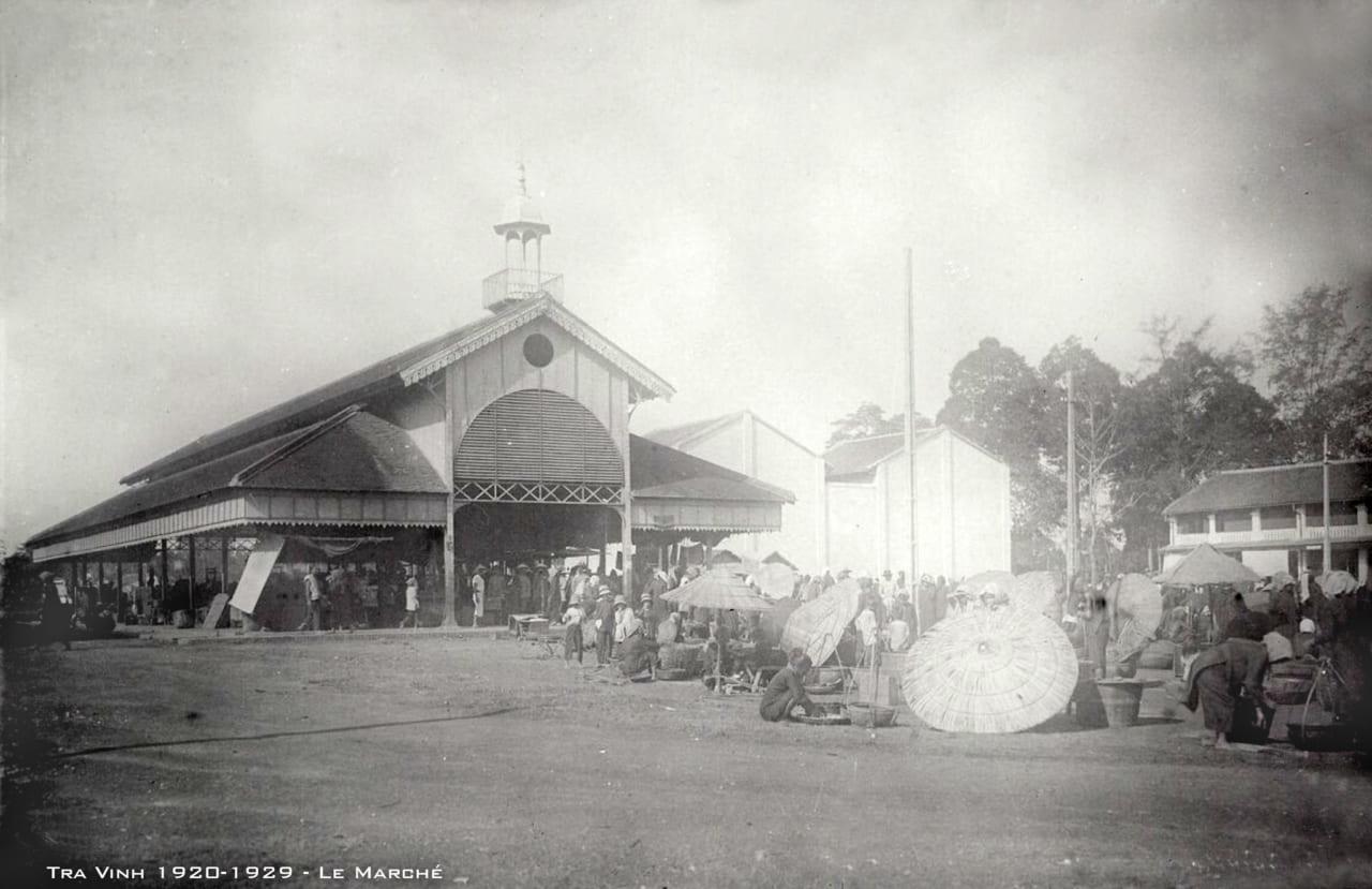 Khu chợ ở Trà Vinh xưa