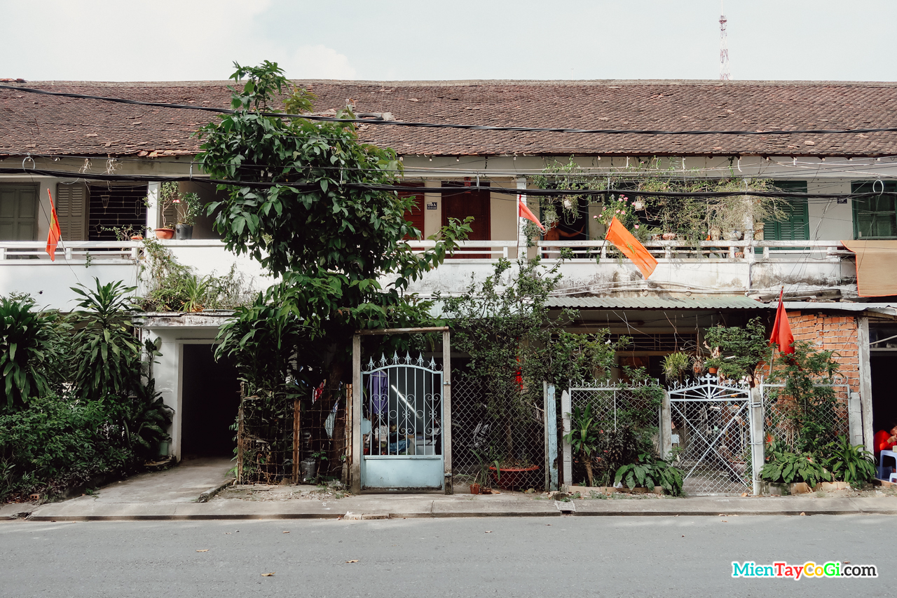 Một khu dân cư cũ ở trung tâm thành phố Cần Thơ