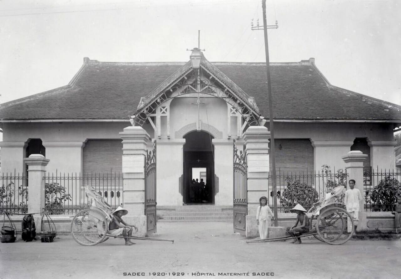 Nhà bảo sanh Sa Đéc 1920s - Hình ảnh Đồng Tháp xưa