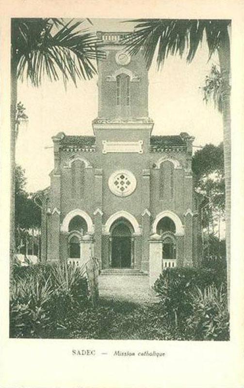 Nhà thờ Công giáo Sa Đéc ở Đồng Tháp xưa