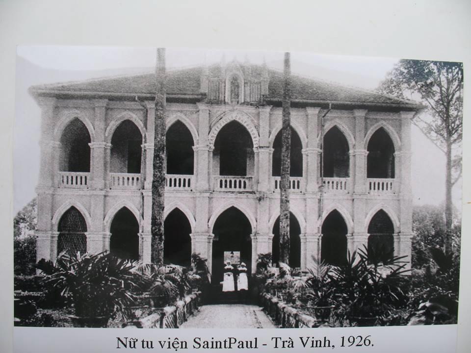 Nữ tu viện Saintaul ở Trà Vinh năm 1926