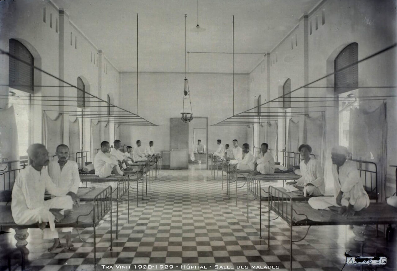 Phòng bệnh nhân bệnh viện tỉnh Trà Vinh thập niên 1920s