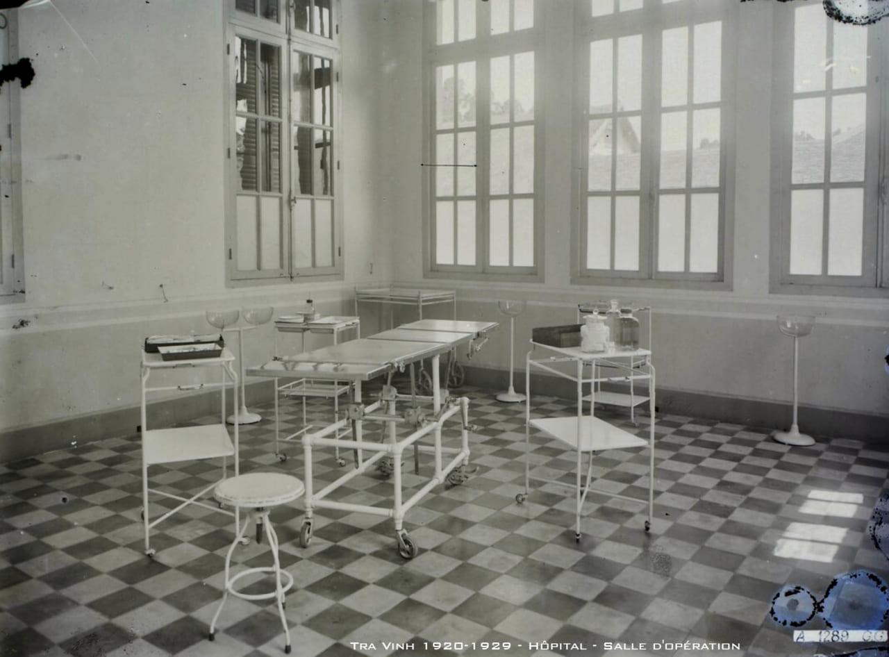 Phòng phẫu thuật bệnh viện tỉnh Trà Vinh thập niên 1920