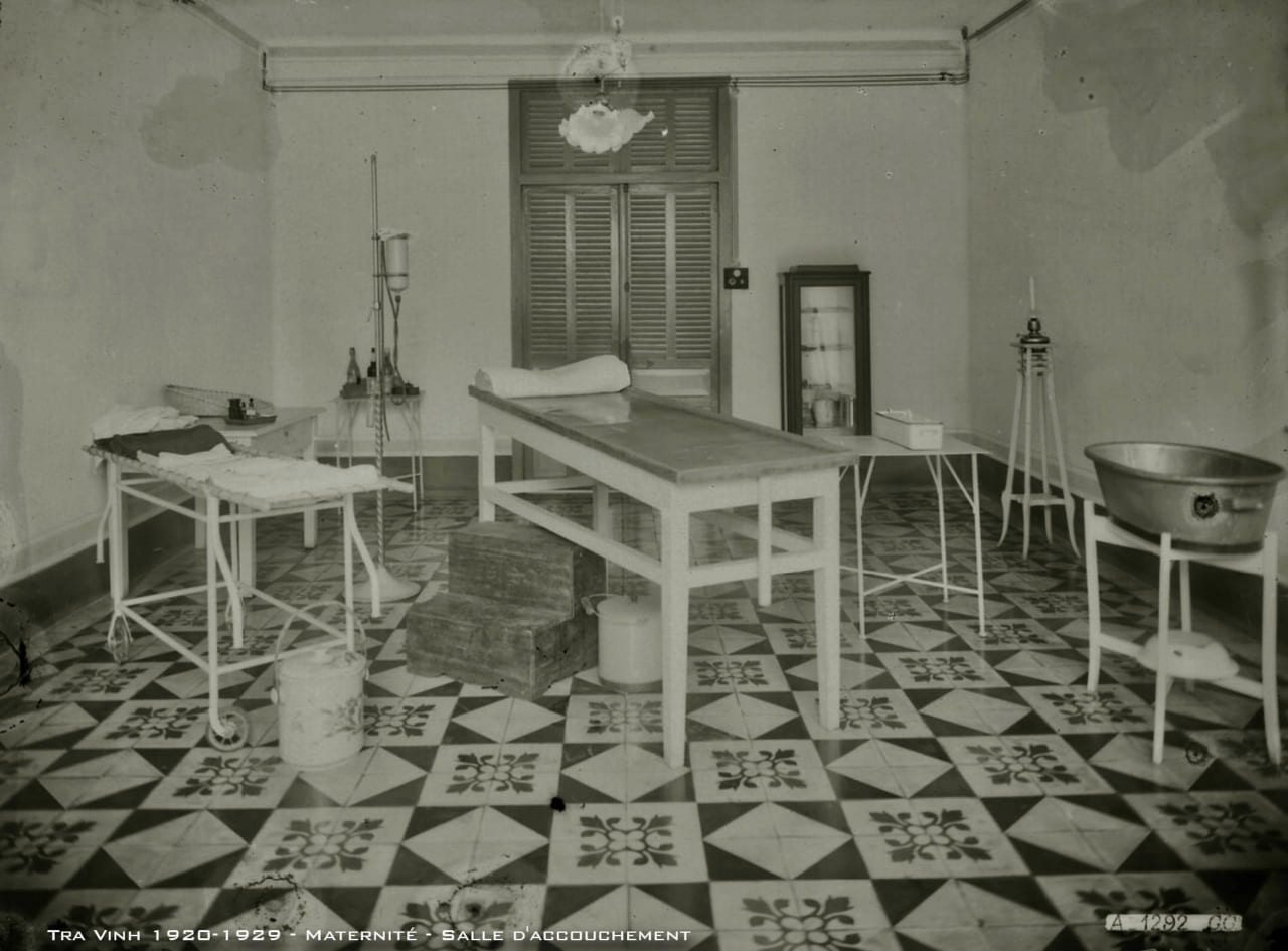 Phòng sanh bệnh viện tỉnh Trà Vinh thập niên 1920