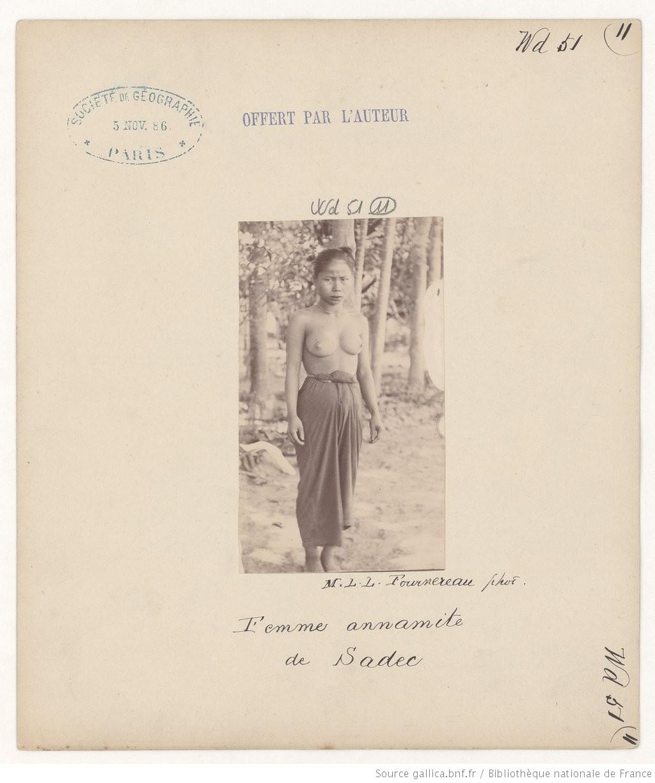 Phụ nữ An Nam ở Sa Đéc - Hình do người Pháp chụp và ghi chú thích về một người phụ nữ