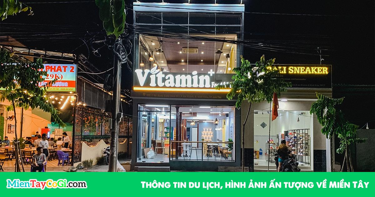 Quán Vitamin + Cần Thơ hồ Bún Xáng | Review quán trà sữa mì cay ĐẸP