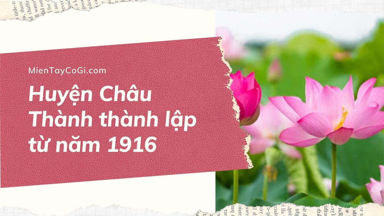 Thời gian thành lập huyện Châu Thành Đồng Tháp