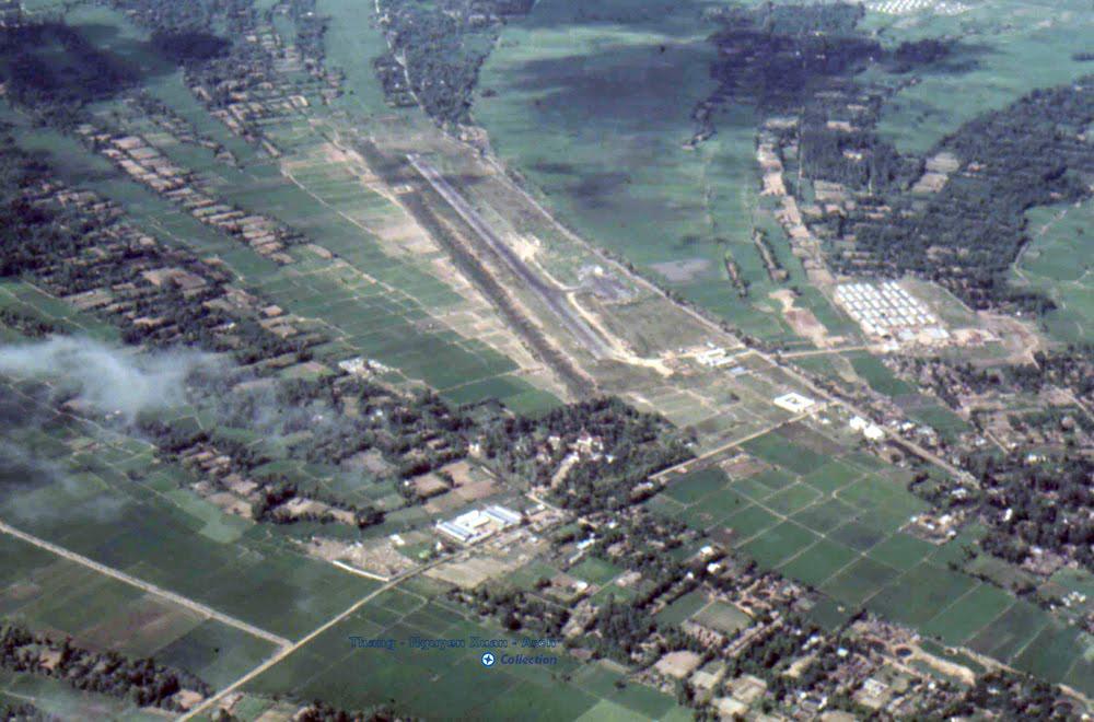 Trà Vinh xưa nhìn từ trên cao năm 1970