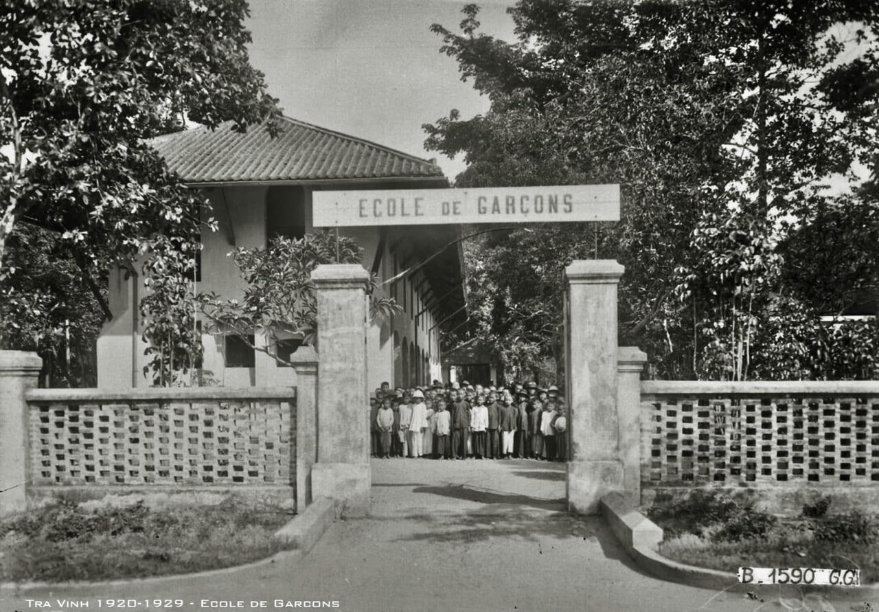 Trường nam sinh ở Trà Vinh thập niên 1920