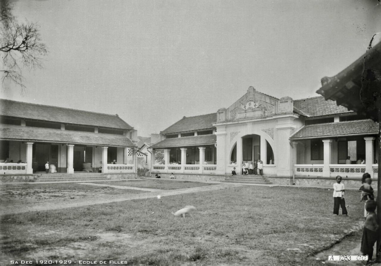 Trường tiểu học nữ sinh Sa Đéc 1920s