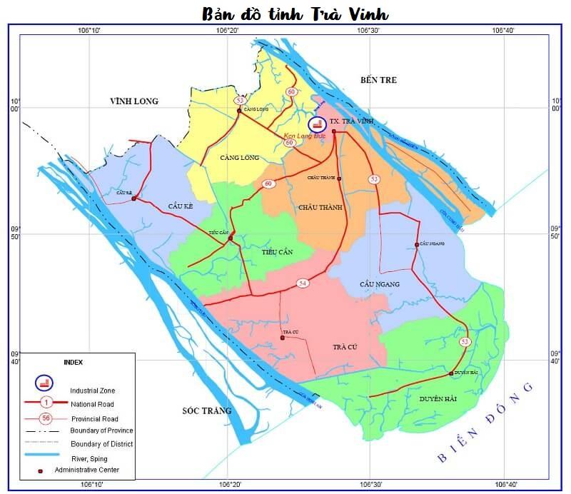 Bản đồ tỉnh Trà Vinh