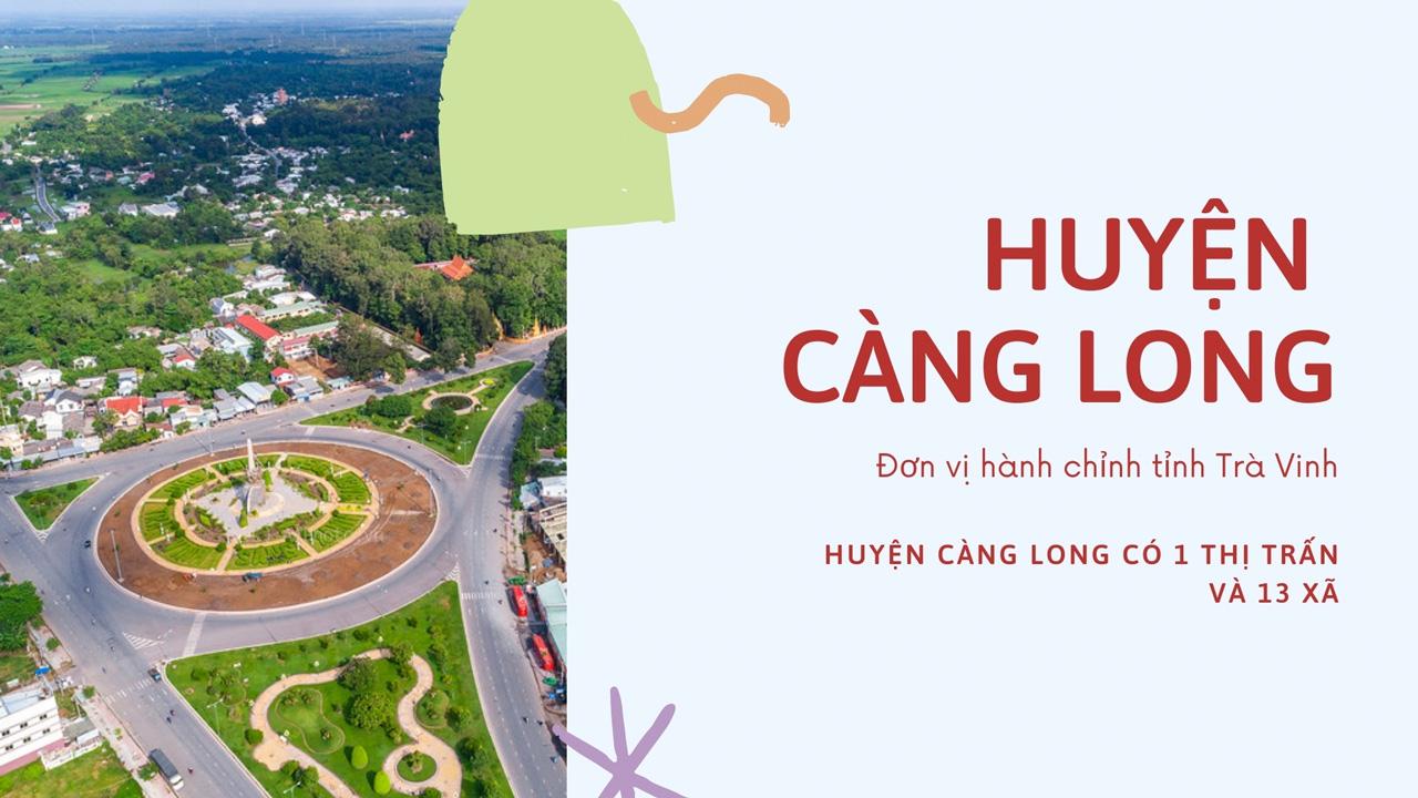 Đơn vị hành chính huyện Càng Long - Trà Vinh