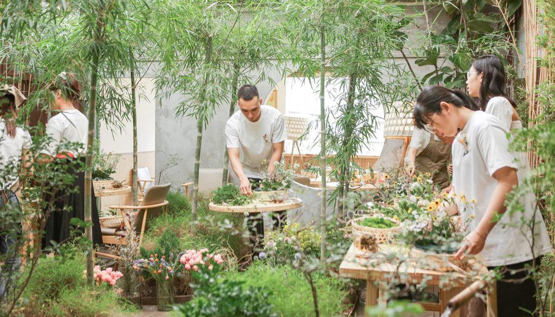 Workshop được tổ chức bên trong Hoa Yên cà phê