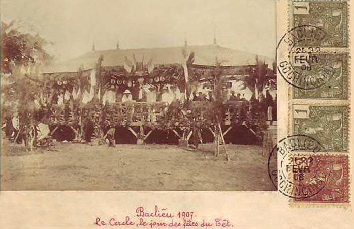 Bạc Liêu 1908 Le Cercle Le Jour Des Fetes du Tet