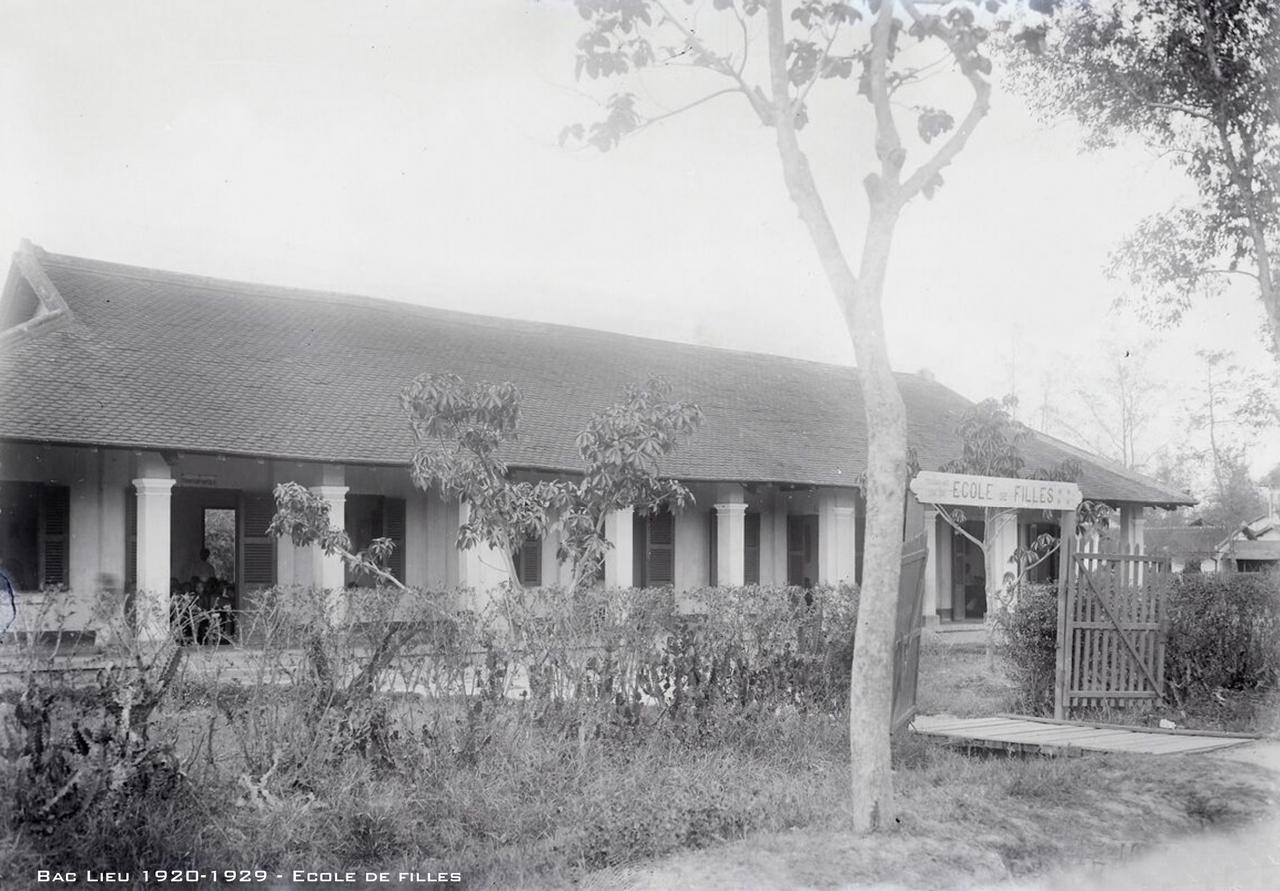 Trường nữ sinh Bạc Liêu những năm 1920s