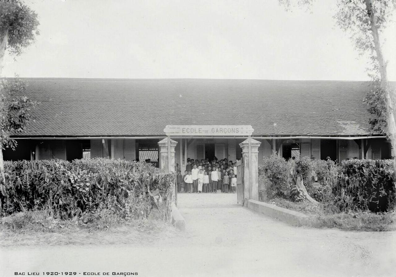 Trường Nam sinh Bạc Liêu những năm 1920s