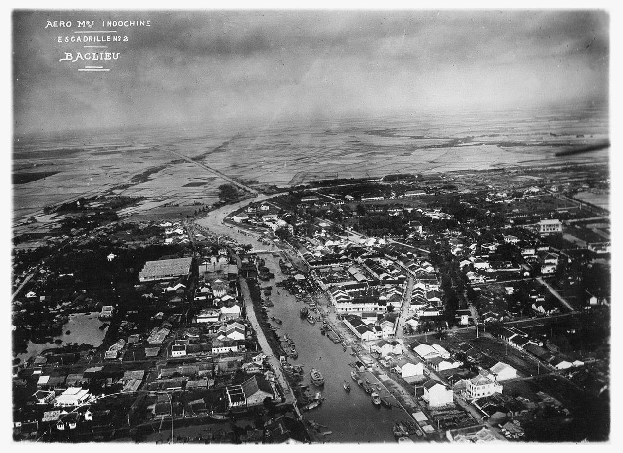 Ảnh trên không Đông Dương năm 1930 về Bạc Liêu