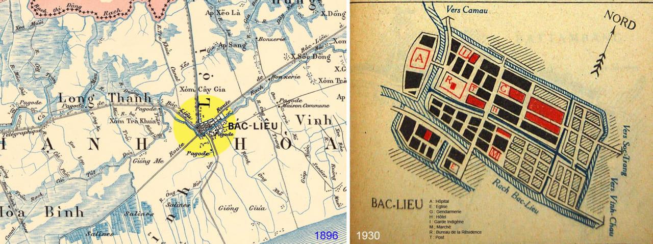 Bản đồ xưa Bạc Liêu