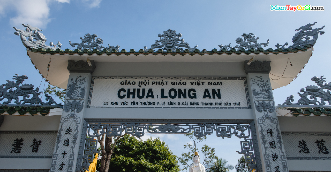 Bảng hiệu chùa Long An Cần Thơ