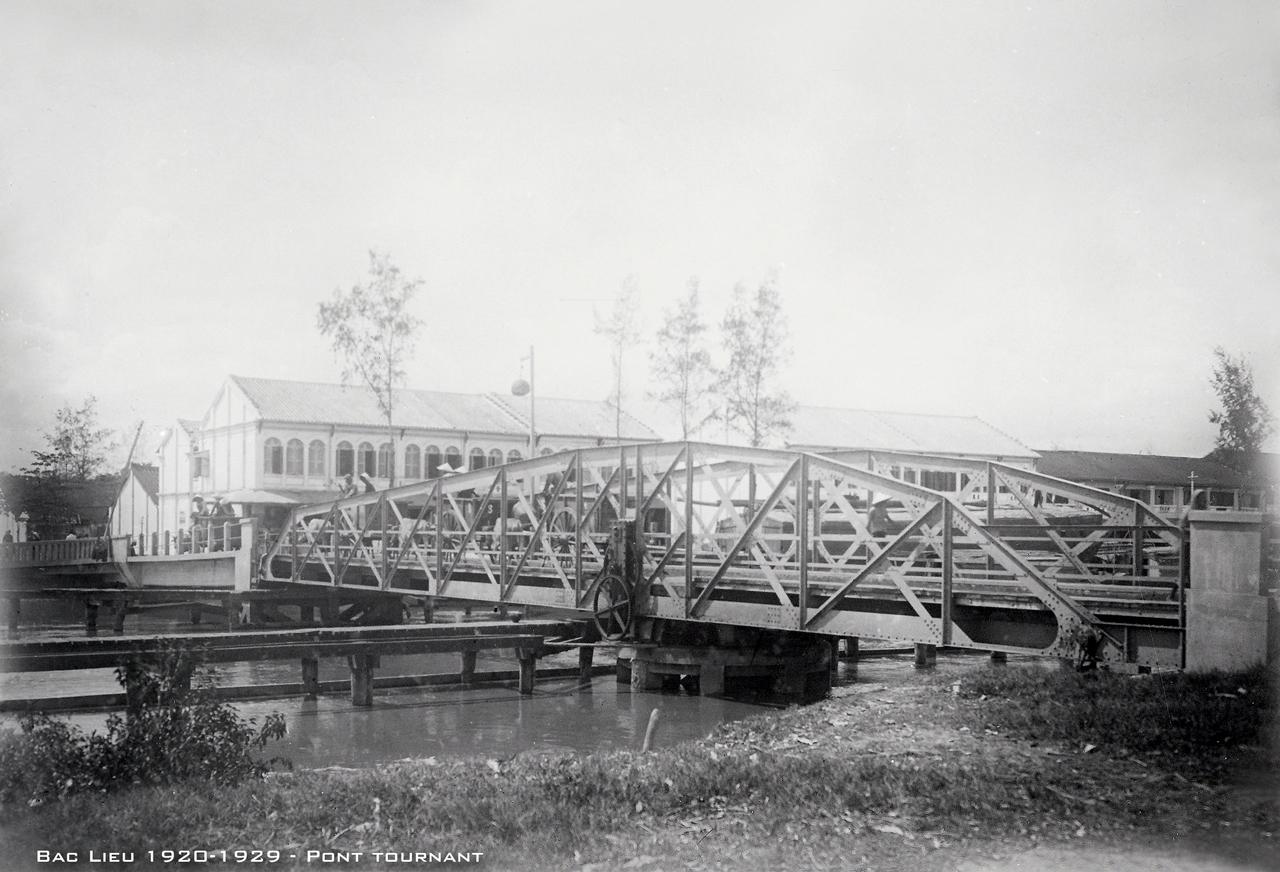 Cầu quay Bạc Liêu thập niên 1920s
