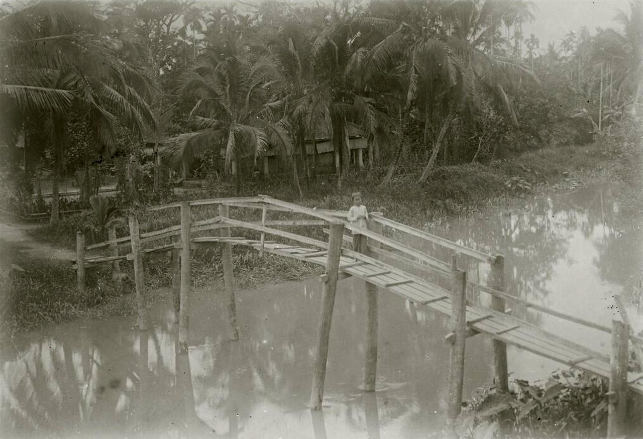 Cây cầu bắt qua con rạch Bạc Liêu ngày xưa