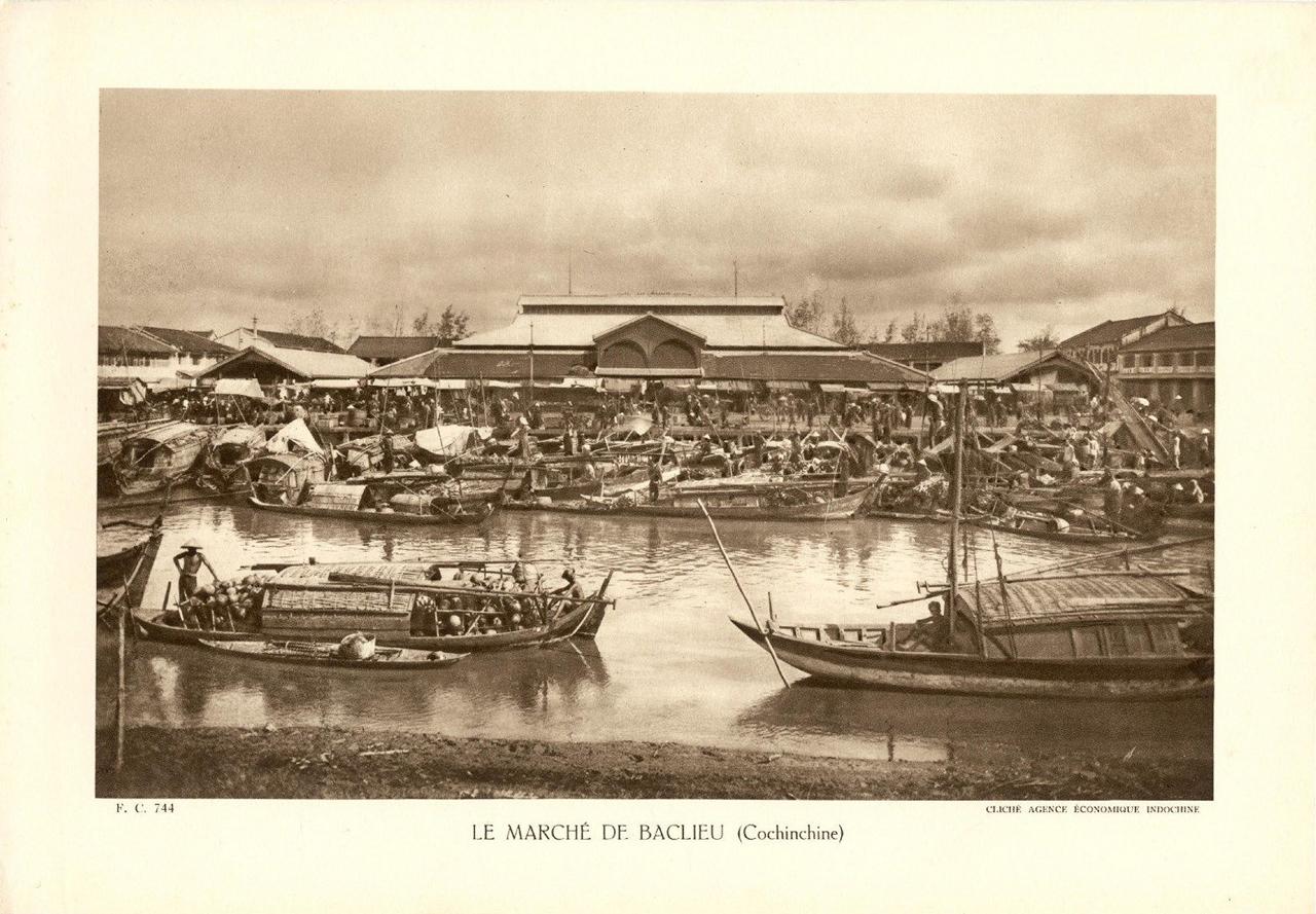 Chợ Bạc Liêu ngày xưa