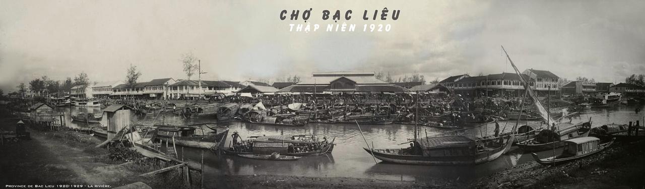 Chợ Bạc Liêu thập niên 1920s