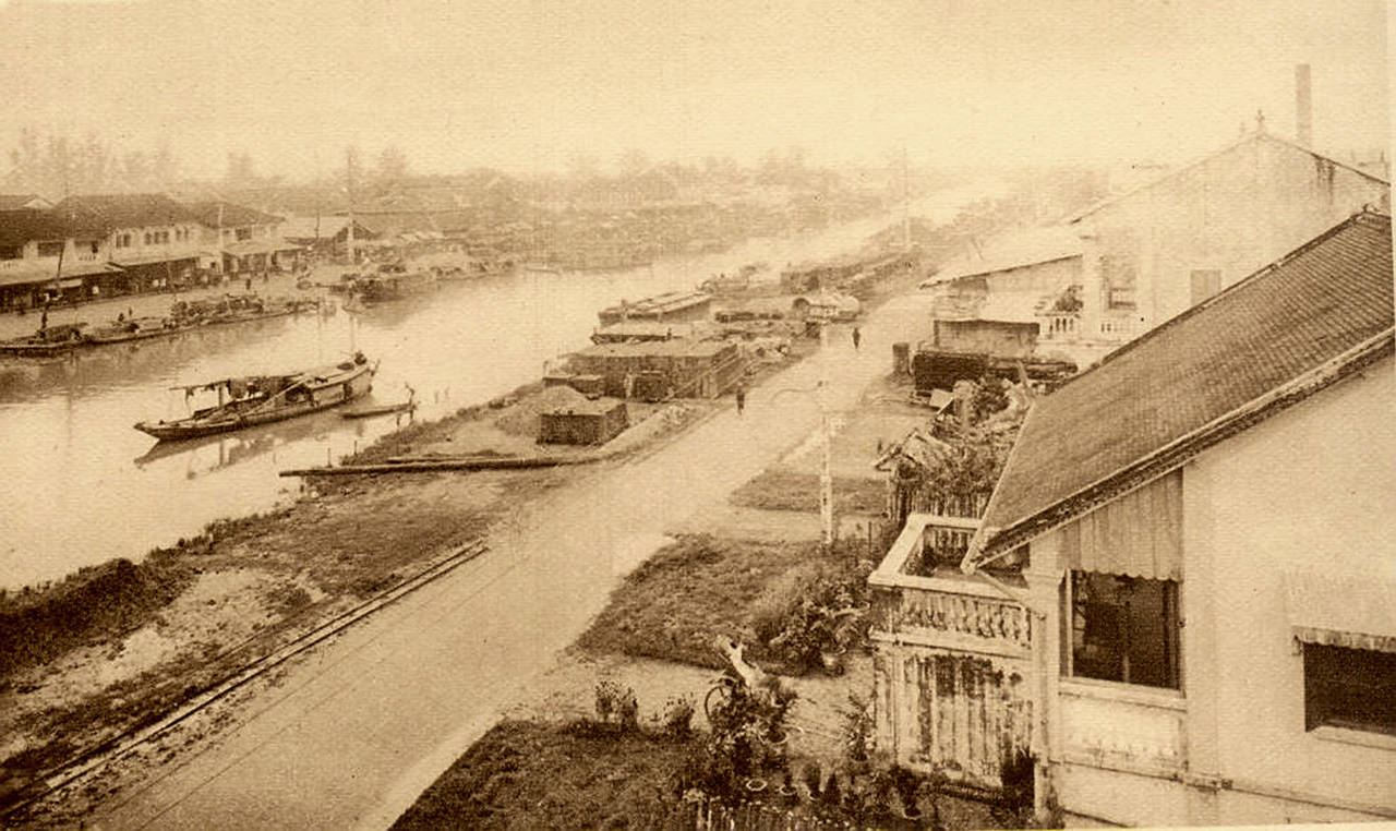 Con sông ngang chợ Bạc Liêu ngày trước đây