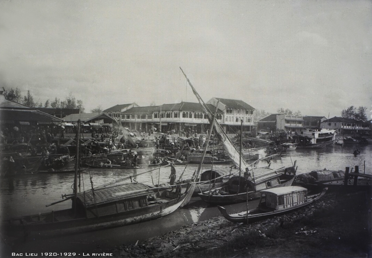 Sông trước Bạc Liêu thập niên 1920s