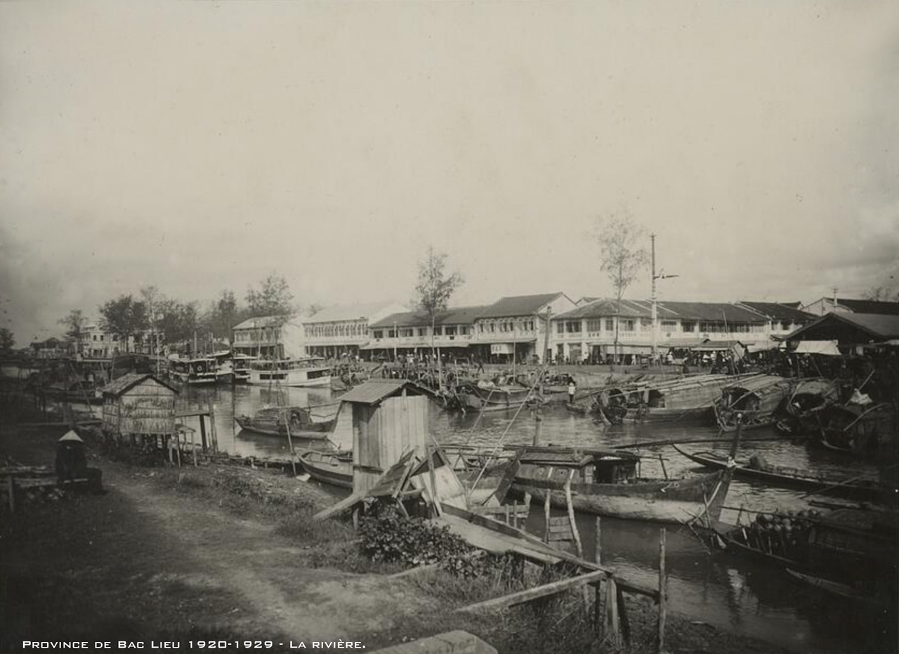 Ven sông tỉnh Bạc Liêu thập niên những năm 1920s