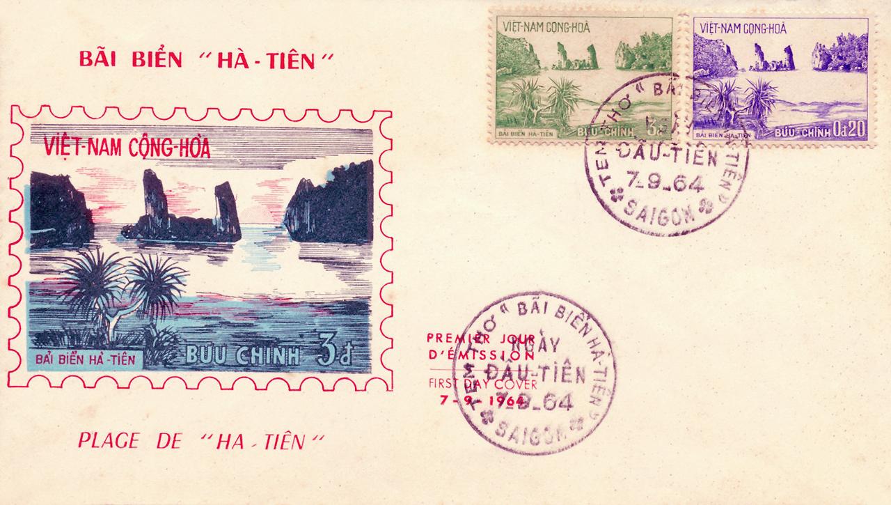 Postcard Bãi Biển Hà Tiên năm 1964