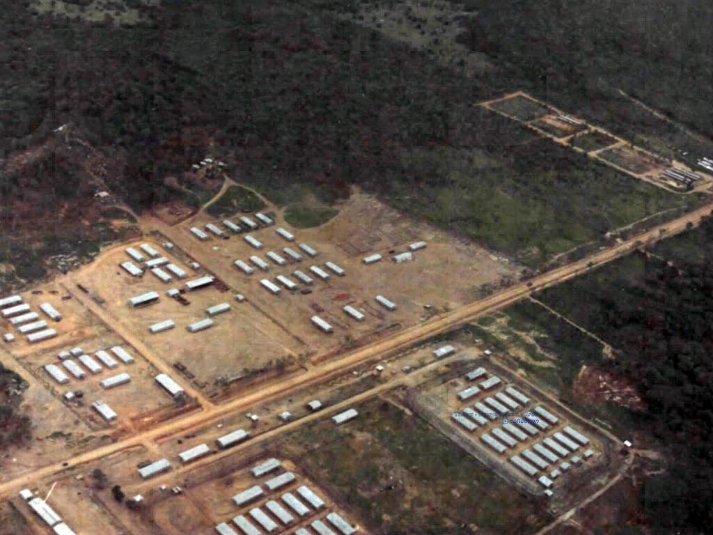 Trại An Thới ở nhà tù đảo Phú Quốc chụp vào tháng 7 năm 1968 - Photo by Eugene M
