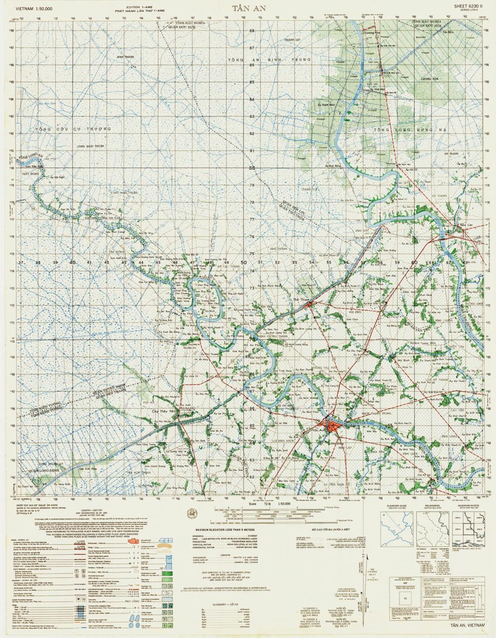 Bản đồ Tân An năm 1965