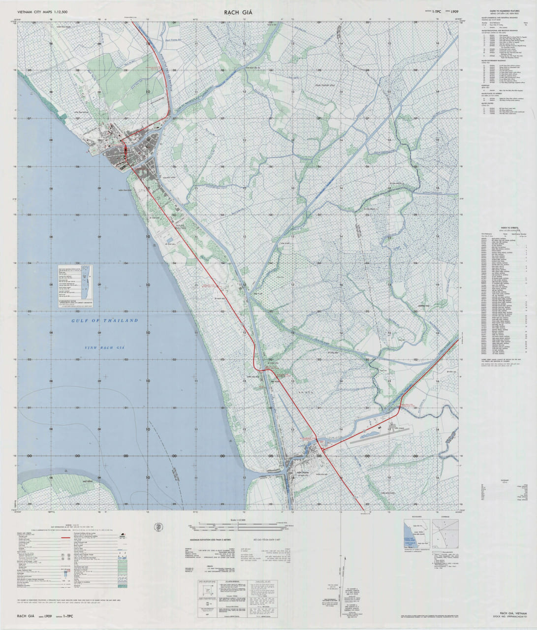 Bản đồ Rạch Giá năm 1969