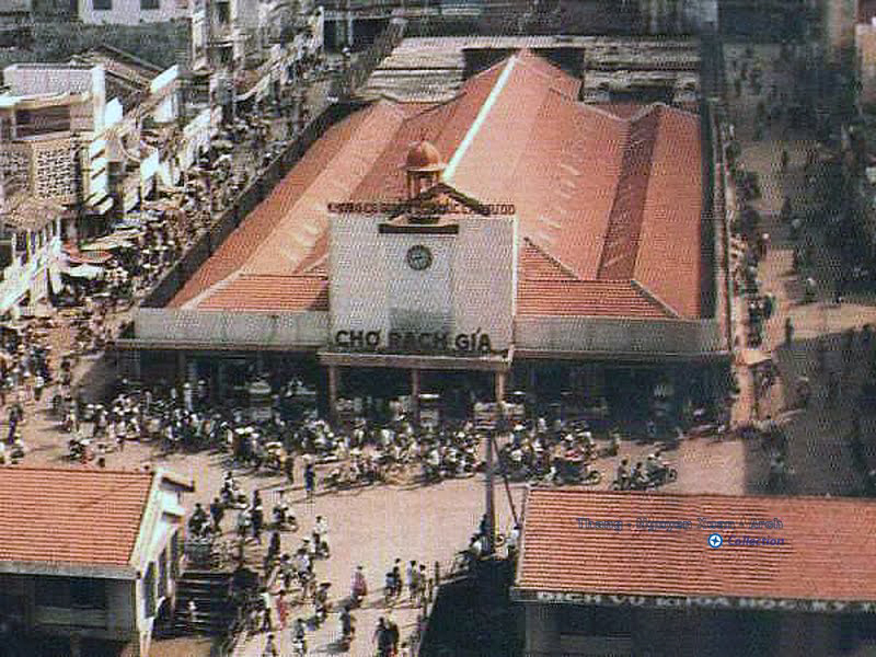Chợ Rạch Giá thập niên 1980s (Nay đã bị phá bỏ để làm công viên)