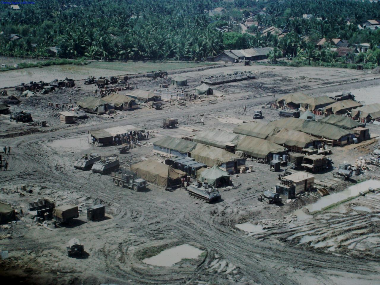 Doanh trại Bình Phước tháng 6 năm 1967 | Photo by Fletcher Clyde